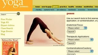 fran's house of ayurveda website for finding yoga poses
