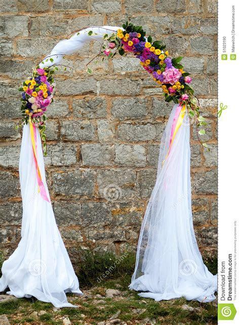 Wedding Arch Stock Photo   Image: 51023190