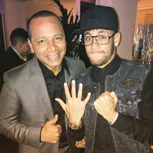 Neymar JR e Neymar Pai (Foto: Reprodução / Instagram)