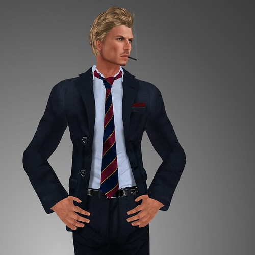 HOORENBEEK Classic suit blue by mimi.juneau *Mimi's Choice*