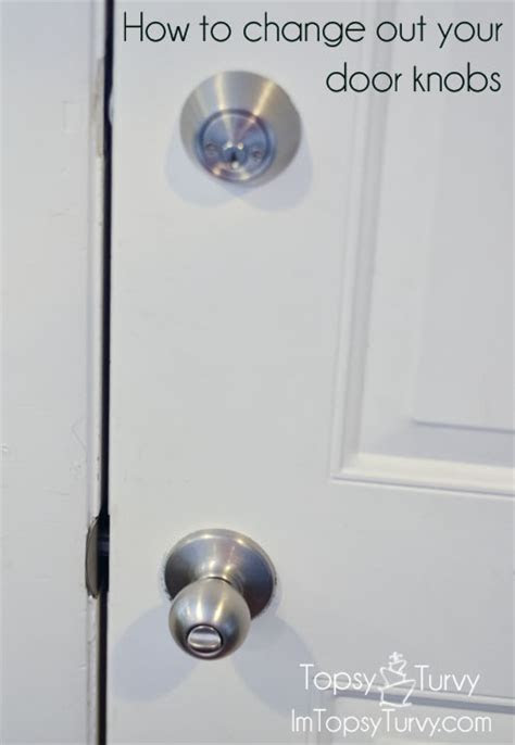 How to change out your door knobs   Ashlee Marie   real