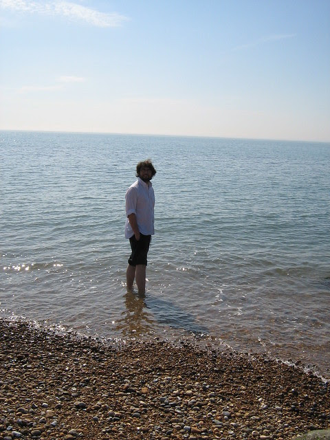 Nic in the sea at Sandgate