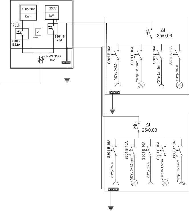Instalacja Elektryczna Schemat