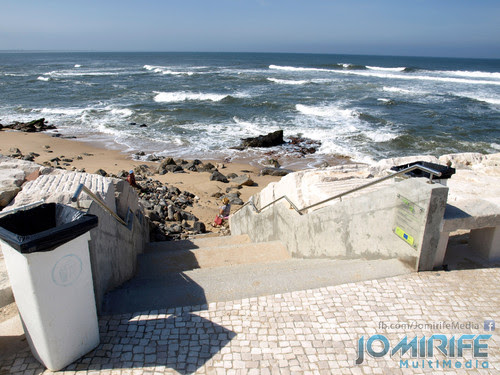 Zona requalificada da praia de Buarcos Cabo Mondego na Figueira da Foz onde estava o restaurante devoluto