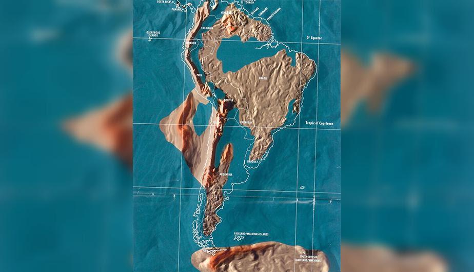 Futuro mapa post-apocalíptico de América del Sur.