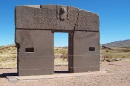 Tiwanaku is aligned to the current North pole under an angle of 359.8 degrees. There's much debate about Tiwanaku and who built it.