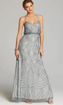Adrianna Papell Art Deco Beaded Blouson Gown Style