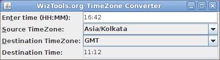 WizTools.org Timezone Converter