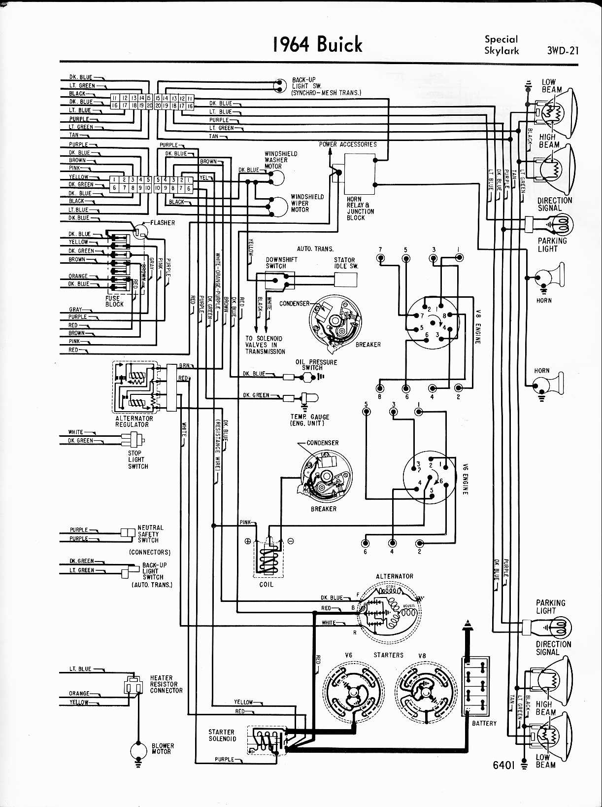1194 Buick Skylark Heater Fan Wire Diagram