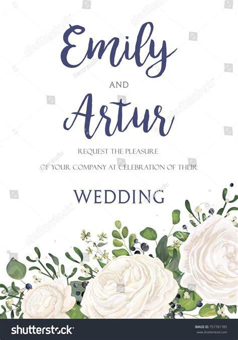 Wedding Invitation invite card Design with watercolor