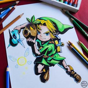 Dibujo De Link Zelda Mi Esbozo En Un Pozo