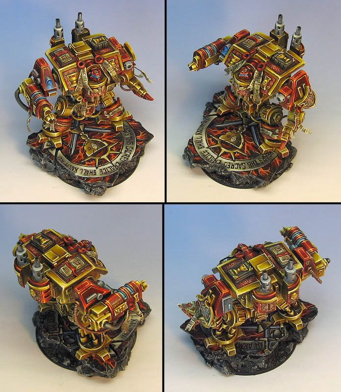 top view of painted dreadnought