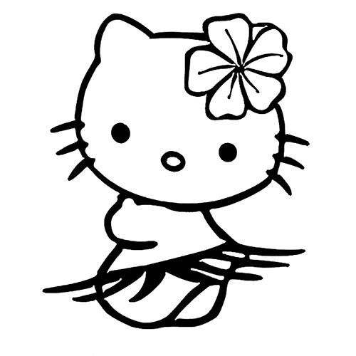 bilder ausmalen malvorlage hello kitty gesicht