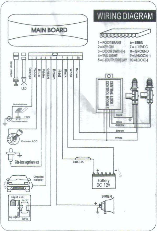 Perodua Kancil Alarm Wiring Diagram - Surat LL on
