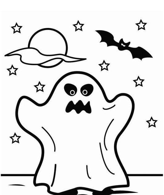 halloween malvorlagen kostenlos ausdrucken online  malbild