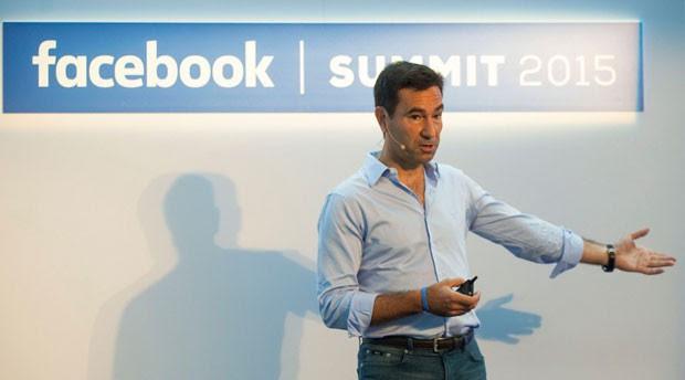 Diego Dzodan, vice-presidente do Facebook para América Latina, em evento da rede social de 2015. (Foto: Arquivo Pessoal/Diego Dzodan)