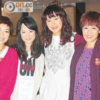 左起:黃智雯、簡慕華、黃翠如、梁嘉琪難得合作。