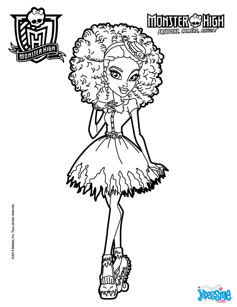Coloriage Monster High Coloriages Coloriage à Imprimer Gratuit