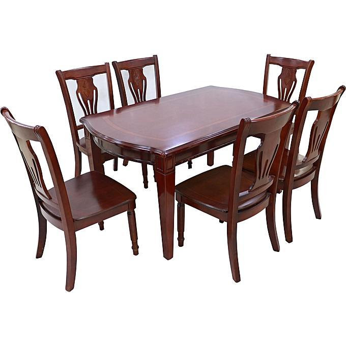 Wood Dining Table 6 Chairs Model Bf240 1 Bp501