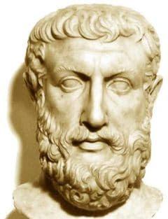 Parmenides van Elea was een Griekse filosoof die tot de presocraten wordt gerekend. Hij stelde waarheid en weten tegenover mening en voorstelling. (bron: Wikipedia)