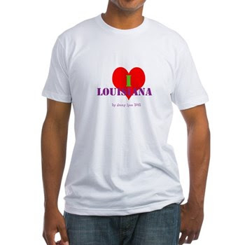 I Love Louisiana Heart Men's Fitted T-Shirt