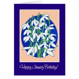 Snowdrops January Birthday Card