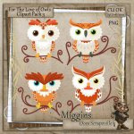 CU Hand Drawn For the love of Owls Clipart 3