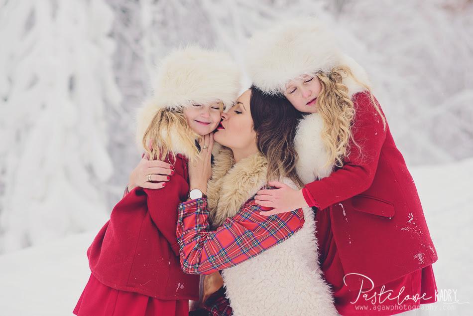 zdjęcia rodzinne zima