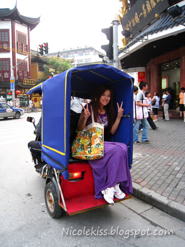 me in shanghai moto trishaw