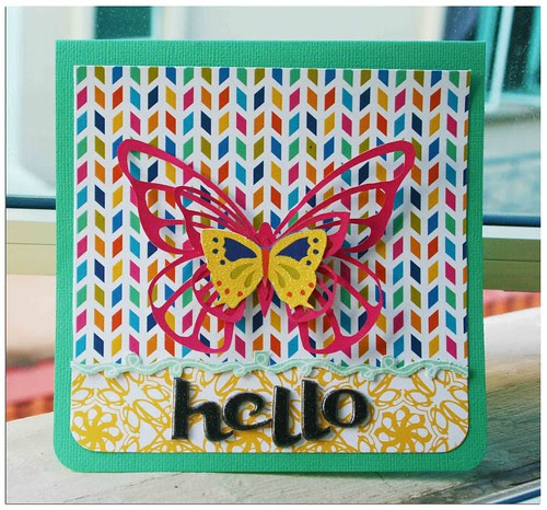 American Crafts hello card