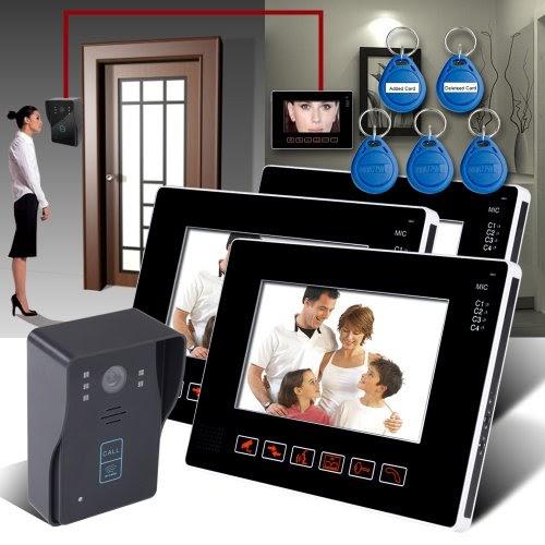 keedox 901mj13id portier interphone avec fil cam ra de surveillance interphone vid o sonnette. Black Bedroom Furniture Sets. Home Design Ideas