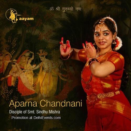 Bharatnaytyam Aparna Chandnani Aayam Institute Performing Arts Creative