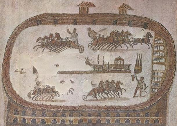 An ancient mosaic shows the circus of Carthage.