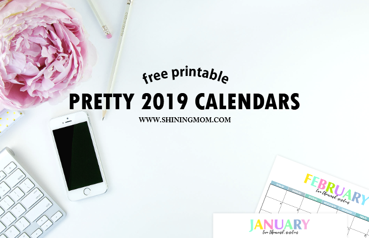 free printable 2019 calendar 1