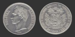 250px-Moneda_Venezolana_de_5_Bolivares_de_1919