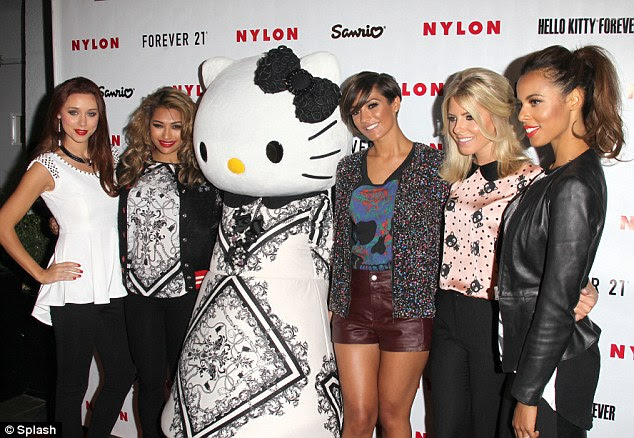 Welcome to Hollywood: The Saturdays attended the Nylon Magazine party on Monday night but no A-list stars turned up