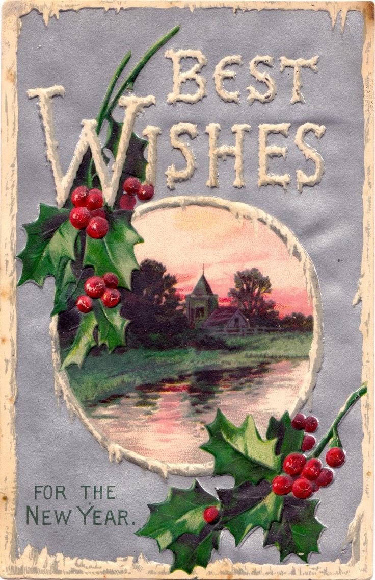 New Year's card  constancedenninger.blogspot.com  Vintage Grace