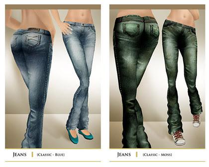 layout jeans lightblue+green