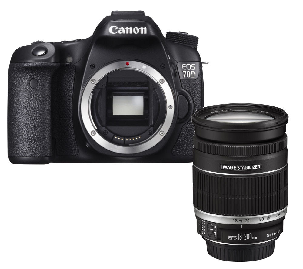Buy CANON EOS 70D DSLR Camera, Telephoto Zoom Lens \u0026 Accessories Bundle  Free Delivery  Currys
