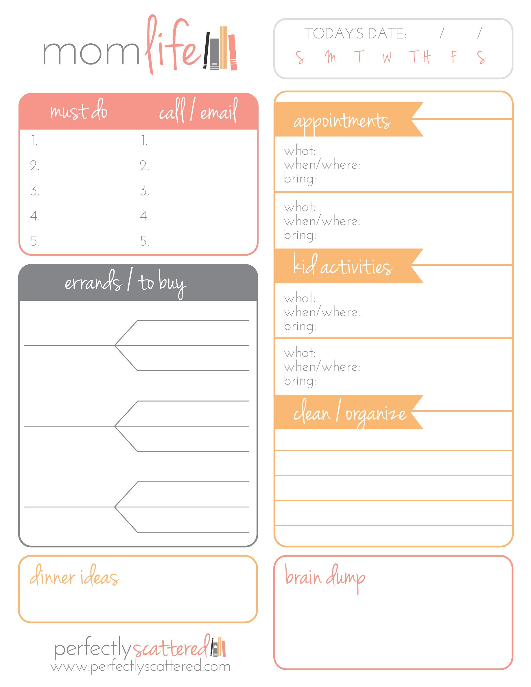Free Printable Daily Planner for Moms - Money Saving Mom®