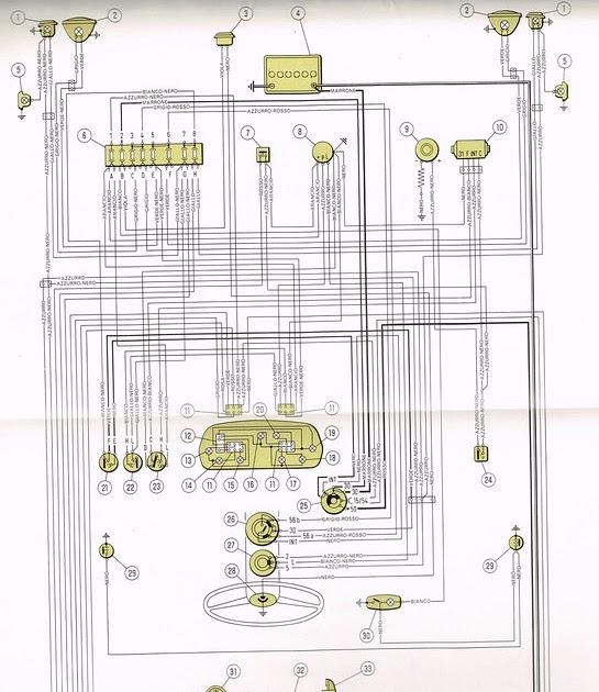 Fiat 850 Spider Wiring Diagram