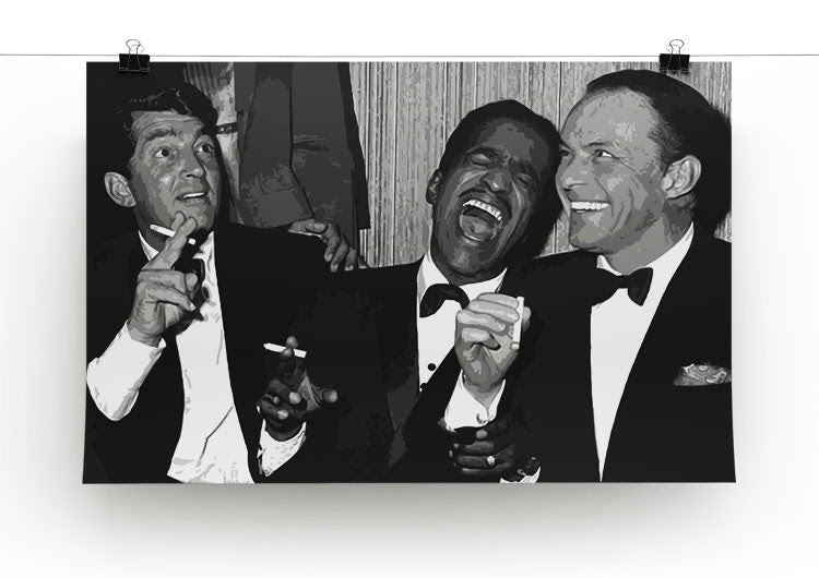 The Rat Pack Rocking With Laughter Canvas Print Poster Canvas