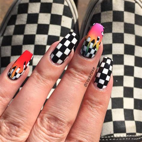 checker checkered checkerboard rainbow flame tana mongeau