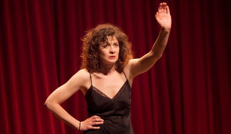 Ana López Segovia, durante una representación teatral