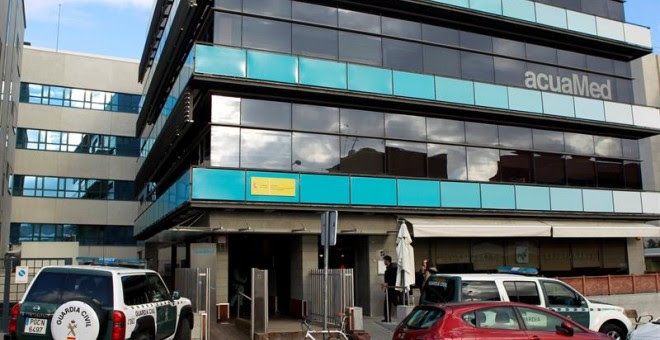 Sede de la empresa Aguas de las Cuencas Mediterráneas (Acuamed), dependiente del Ministerio de Agricultura y Medio Ambiente. EFE