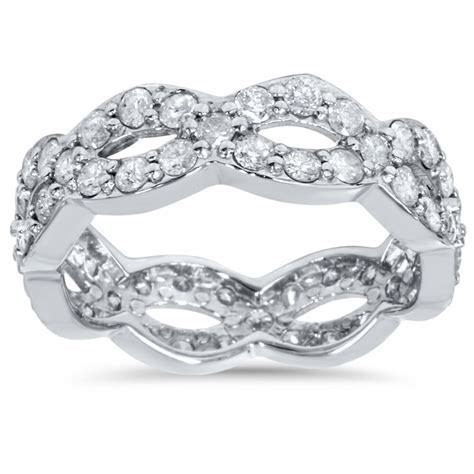 1 Cttw Diamond Infinity Eternity Wedding Anniversary Ring