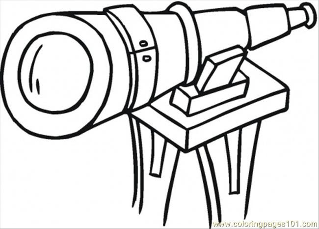 Download Big Telescope Coloring Page - Free Optical Coloring Pages : ColoringPages101.com