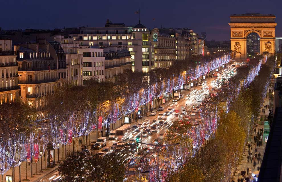 Champs-Elysees, Paris Christmas lights
