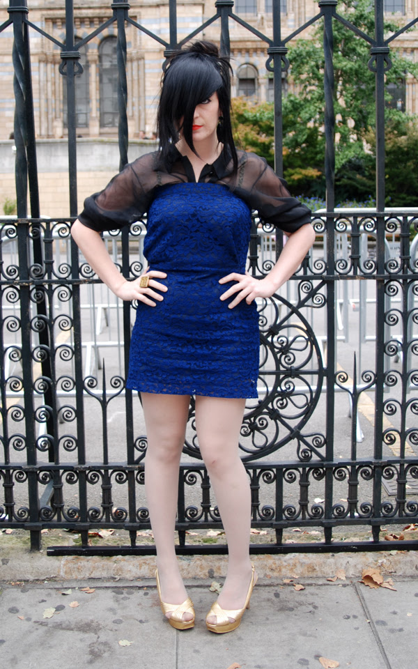 blue dress black