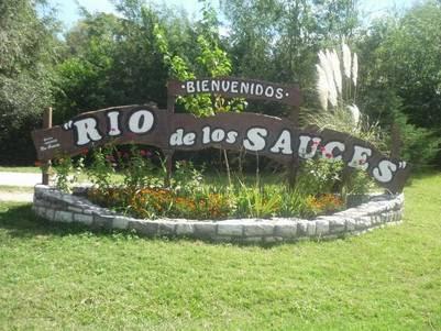 """Río de los Sauces, """"Comarca de pintores""""."""